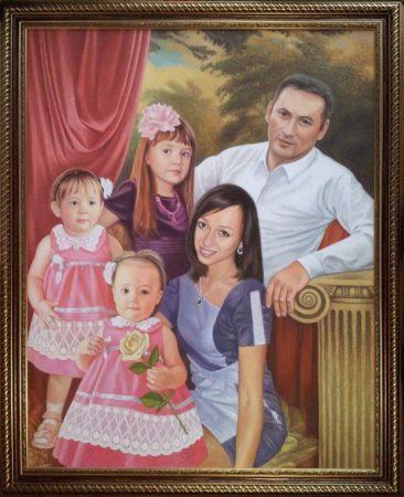 Семейный портрет маслом в Киеве — правильная традиция…