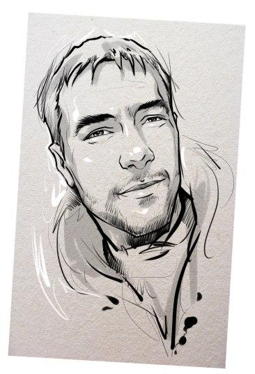 Портрет карандашом любимому мужу в Киеве…