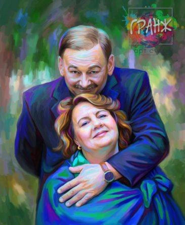 Портрет по фото на холсте Киев