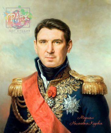 Портрет по фото на холсте в подарок мужчине на 23 февраля Киев