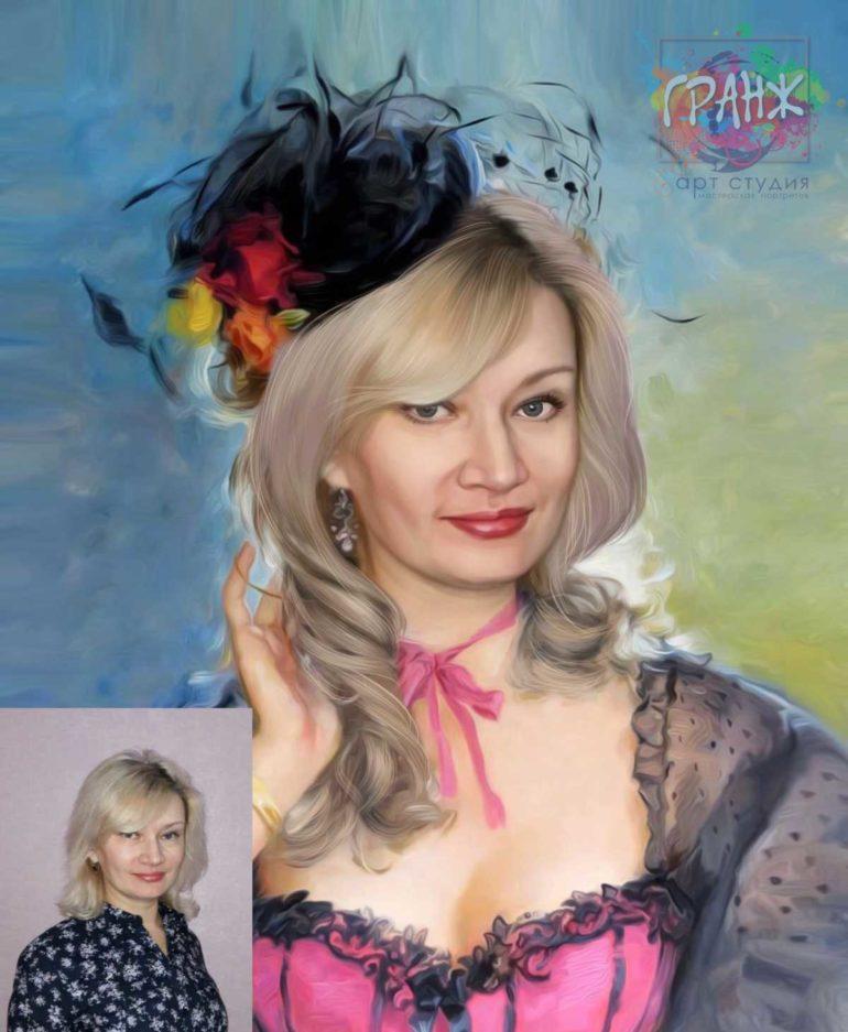 Заказать арт портрет по фото на холсте в Киеве