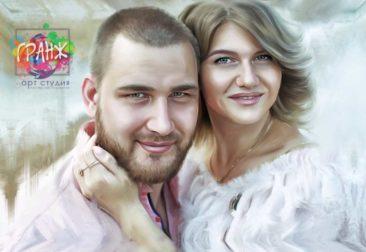 Где заказать портрет по фотографии на холсте в Киеве?