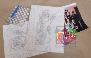 Картина по номерам по фото, портреты на холсте и дереве в Киеве